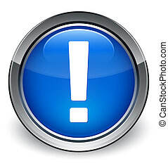 exclamation, bleu, bouton, marque, lustré, icône