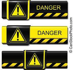 Exclamation buttons - Exclamation danger buttons, icons ...