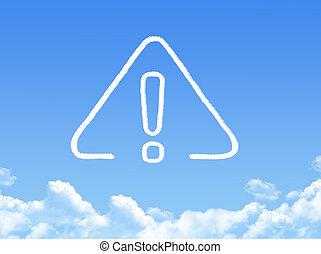 exclamation cloud shape
