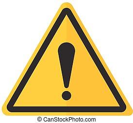 exclamation, danger, point, signe, avertissement, icône