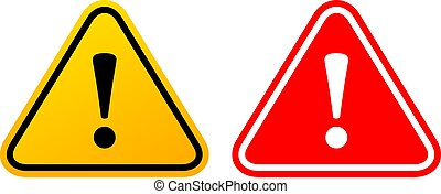 exclamation, danger, triangulaire, signe
