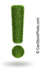 exclamation, herbe, naturel, marque