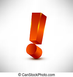 exclamation mark - Exclamation mark editable vector...