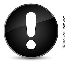 Exclamation mark icon elegant black round button