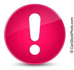 Exclamation mark icon elegant pink round button