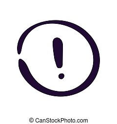 Exclamation mark icon vector illustration on a white background