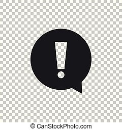 Exclamation mark in circle icon isolated on transparent background. Hazard warning symbol. Flat design. Vector Illustration