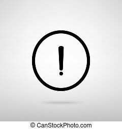 Exclamation mark sign