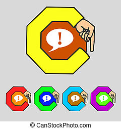 Quotation mark speech bubble  quote sign icon