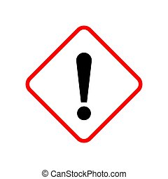 Exclamation mark - vector. - Exclamation mark isolated....