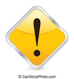 exclamation mark yellow square icon