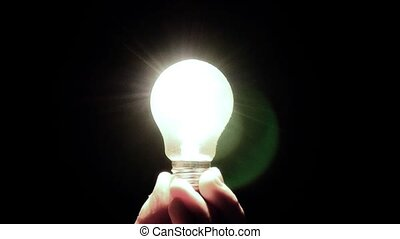exclamation marks from light bulbs. Idea Light Bulb With...