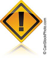 exclamation, panneau avertissement, icônes