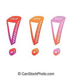 Exclamation point hand drawn vector illustration