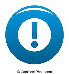 Exclamation point icon blue