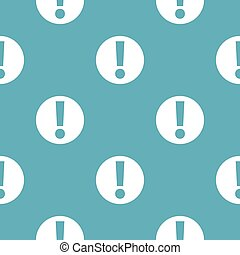 Exclamation point pattern seamless blue
