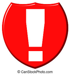 Exclamation Point Shield