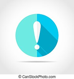 Exclamation point. Vector illustration. - White exclamation...