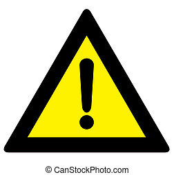 Exclamation sign - a black and yellow exclamation sign