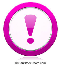 exclamation sign violet icon warning sign