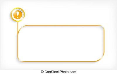 exclamation, texte, cadre, jaune, ton, mark.