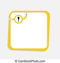 exclamation, texte, cadre, ton, marque
