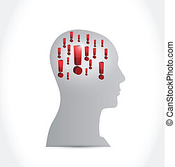 exclamations on your mind. illustration design