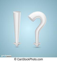 exclamatory, marca pergunta
