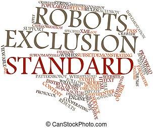 exclusión, robotes, estándar