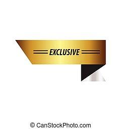 exclusief, ontwerp, zilver, lint, goud
