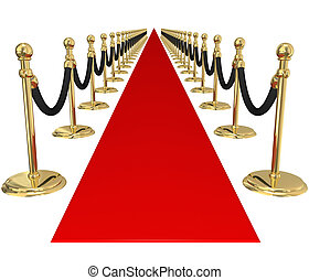exclusif, or, accueil, vip, invitation, fête, stanchions, ...