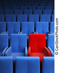 exclusif, une, auditorium, siège