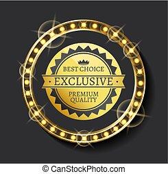 Exclusive Ad, Best Choice, Premium Quality Vector