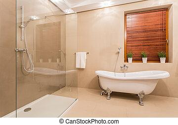 Exclusive bathroom - Exclusive bright bathroom with marble...