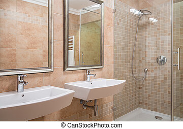 Exclusive bathroom with shower