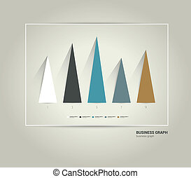 Exclusive business chart. Trend minimalistic flat graph can...