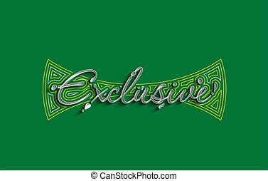 Exclusive Calligraphic 3d Style Text Vector illustration Design.