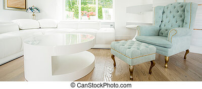 Exclusive chair in bright room