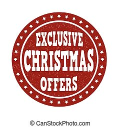 Exclusive Christmas offers stamp