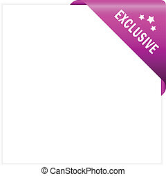 Exclusive corner, vector illustration