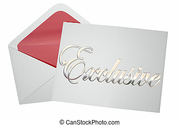 Exclusive Event Invitation Envelope Word 3d Illustration