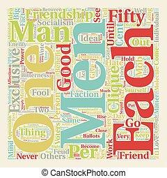 EXCLUSIVE FRIENDSHIPS text background wordcloud concept