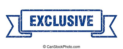 exclusive grunge ribbon. exclusive sign. exclusive banner
