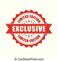 Exclusive grunge rubber stamp. Vector illustration on white background. Business concept exclusive limited edition stamp pictogram.