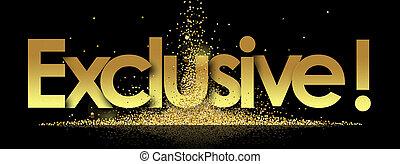 Exclusive in golden stars background