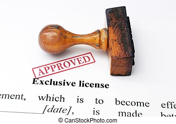 Exclusive license - approved