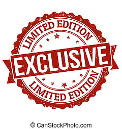 Exclusive, limited edition grunge rubber stamp on white, vector illustration