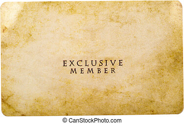 Exclusive Member Card Isolated On White