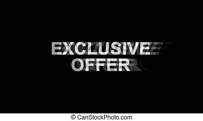 Exclusive Offer Glitch Effect Text Digital TV Distortion 4K ...