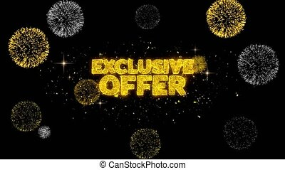 Exclusive Offer Golden Text Blinking Particles with Golden...